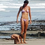Gisele Bundchen and Benjamin Brady took a walk along the beach.