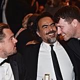 Pictured: Leonardo DiCaprio, Alejandro González Iñárritu, and Matthew Heineman