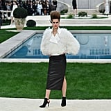 Glamorous White Feathers Were Paired With Edgy Black Leather