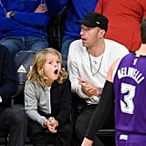 Chris Martin Gets in Some Quality Time With Son Moses Ahead of the Super Bowl