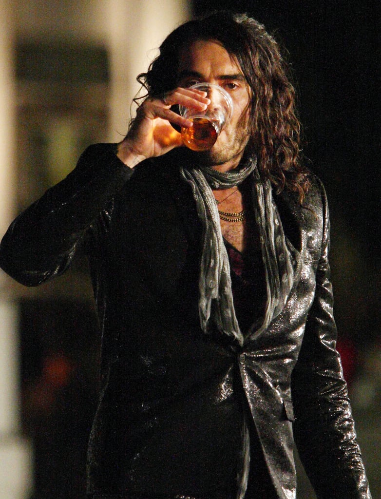 Russell Brand Films Get Him To The Greek In London