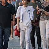 Wearing White Cotton Citizen Joggers