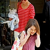 Katie Holmes and Suri Cruise Get Ready For the Weekend