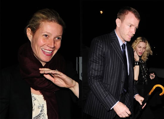 Madonna, Guy Ritchie and Gwyneth Paltrow Leaving the London Kabbalah Centre