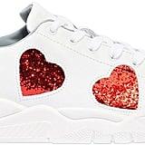 Chiara Ferragni Glittered Hearts Leather Sneakers