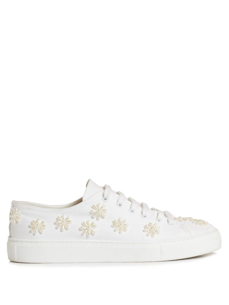 Simone Rocha Embellished canvas sneakers oKuYWe