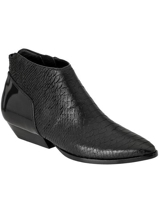 Sigerson Morrison Prima black flat ankle boots ($180, originally $450)