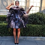 """When @cartier is your date, and Giles is your dress,"" Solange captioned this Instagram photo."