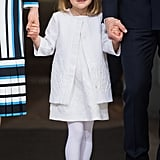 Princess Estelle at Her Grandfather's 70th Birthday