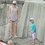 Naomi Watts and Sasha Schreiber played together in Sydney.