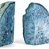 Philmore USA Pair of Agate Bookends, Blue ($79)