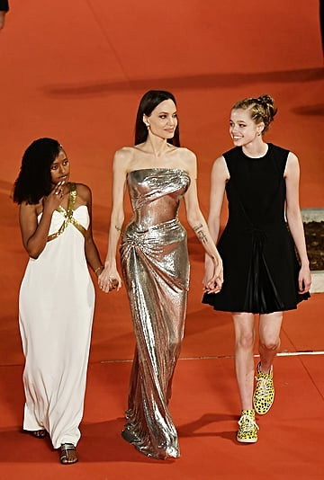 Shiloh Jolie-Pitt's Yellow Leopard SAWA High-Top Sneakers