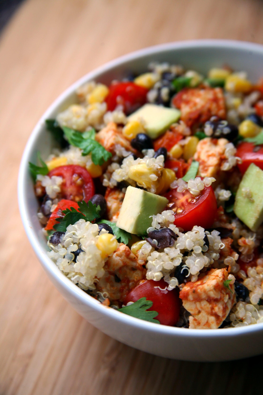 Mexican Tempeh Quinoa Salad Popsugar Fitness
