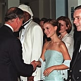 Prince Charles greeted Natalie Portman and Ewan McGregor before a screening of Star Wars: The Phantom Menace — Episode 1 in 1999.