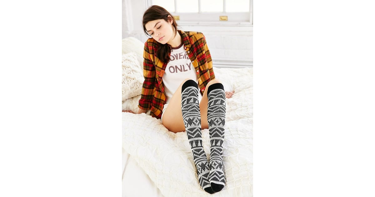 4db957f10a1 Urban Outfitters Geo Patterned Knee-High Sock ( 16)