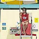 Aubrey Plaza has the high school lifeguard look down.  Source: CBS Films