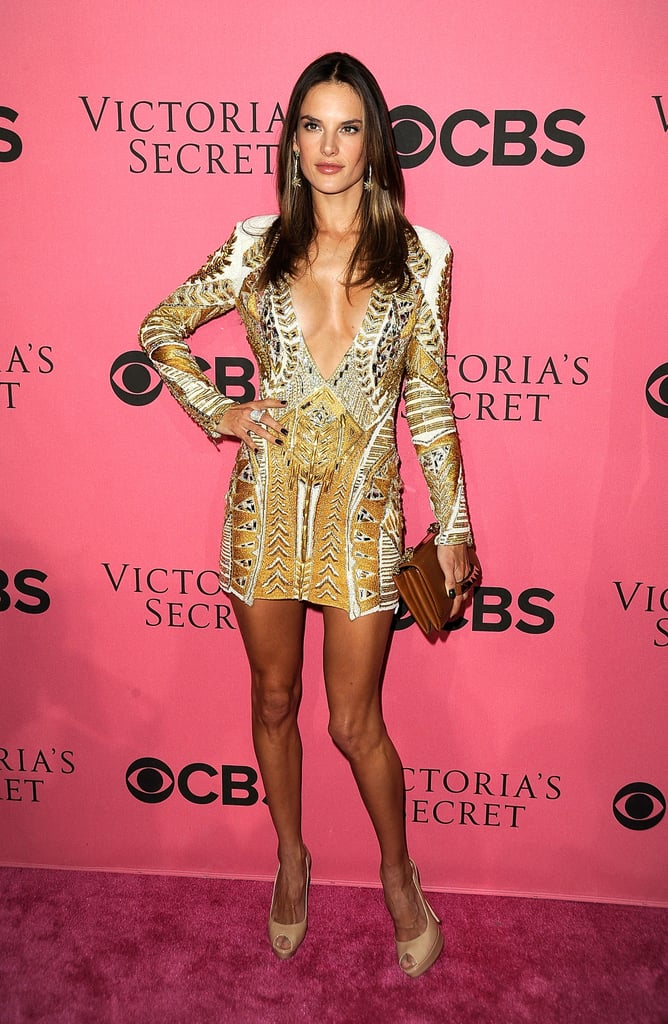 Alessandra Ambrosio hit poses for the camera.
