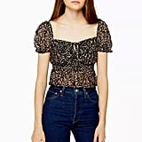 Topshop Ditsy Floral Lace Top
