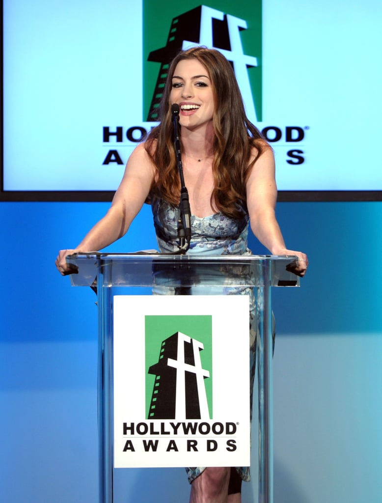 Anne Hathaway at the 2011 Hollywood Film Awards.