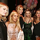 Ultrachic friends Lily Donaldson, Ellie Goulding, Karlie Kloss, Taylor Swift, and Cara Delevingne celebrated in style.
