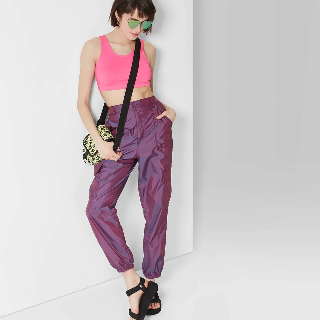 9ac9fe1813cb1b Women's High-Rise Metallic Cargo Pants | Best Wild Fable Clothing at ...