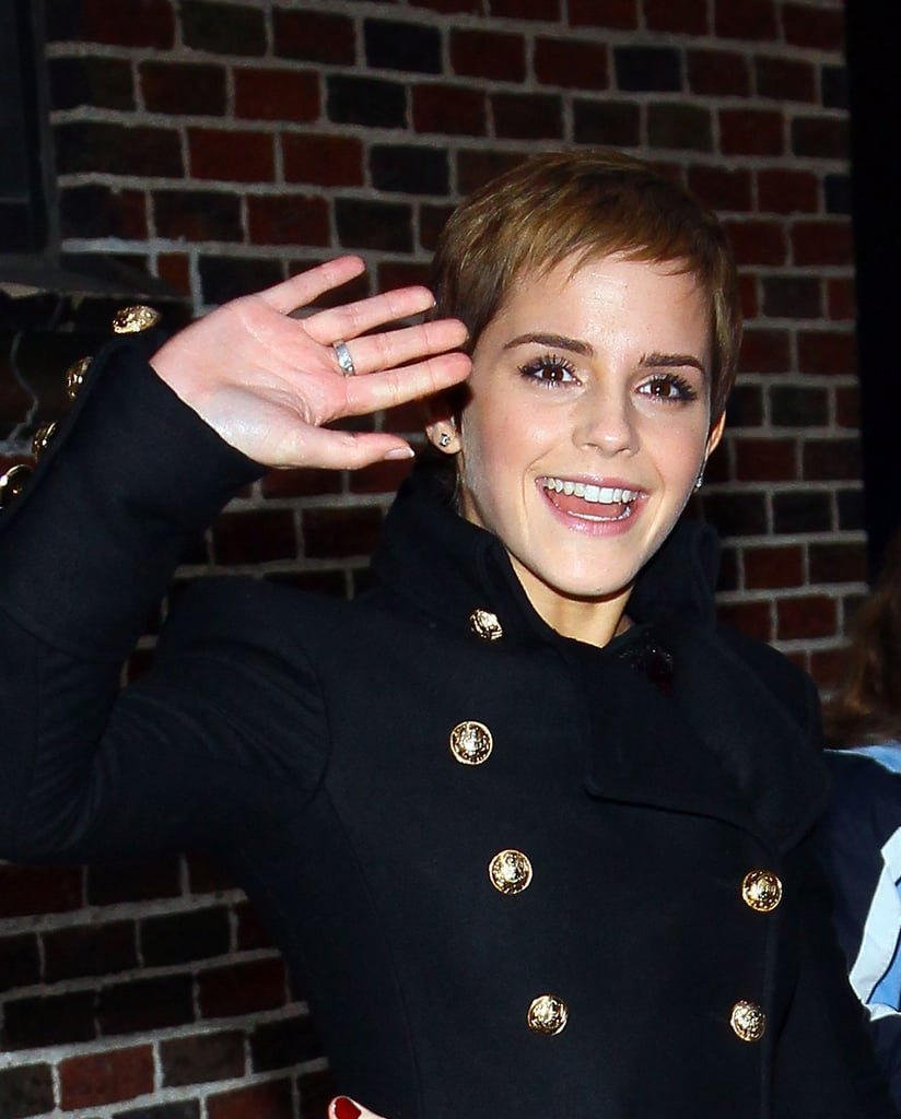 Pictures of Emma Watson at Letterman