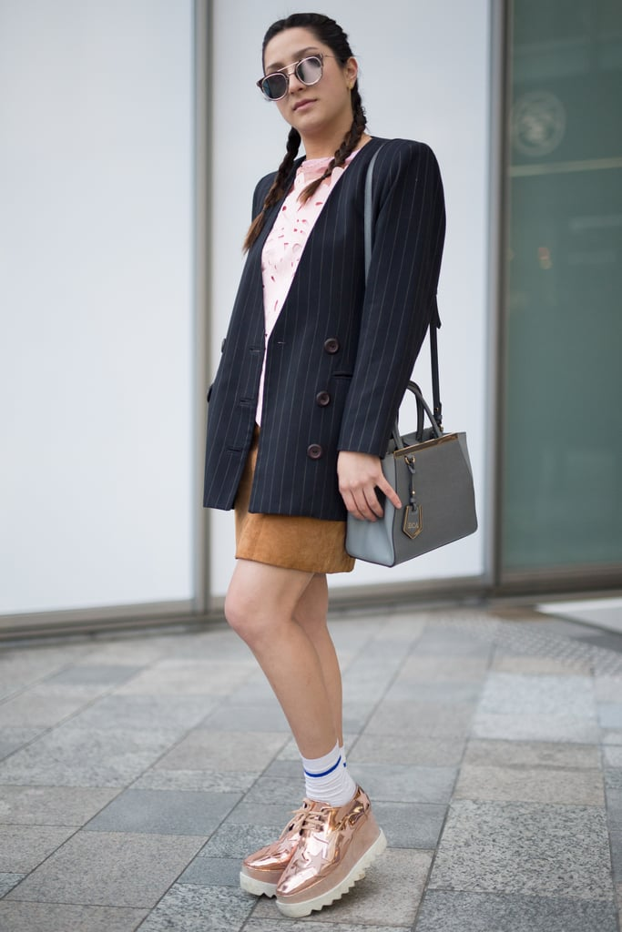 Treat Metallics Like Neutrals Tokyo Fashion Week Street Style Fall 2016 Popsugar Fashion Photo 9