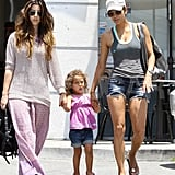 Halle Berry and daughter Nahla Aubry dine without Gabriel Aubry.