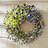 Pascala Purple Pansy Wreath ($129)