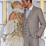 Gaga and Bradley kept close again on the red carpet at the film's UK premiere.