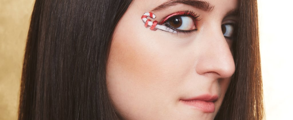 Candy Cane Eyeliner Art Is the Sweetest Holiday Trend to DIY