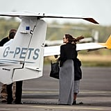 Angelina Jolie and Maddox Jolie-Pitt ready to go up in the air.