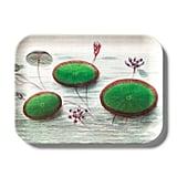 John Derian Lily Pad Print Melamine Rectangular Serving Tray
