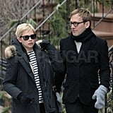 "Michelle Williams Has a New York Weekend While Ryan Gosling Talks ""Real"" Sex"