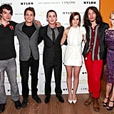 Emma Watson attended a premiere of The Perks of Being a Wallflower with the cast.