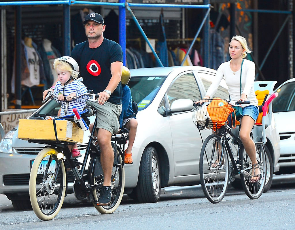 Naomi Watts followed behind Liev Schreiber.