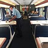 The dining car is a great way to meet new people.