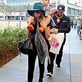 Nicole Richie and Joel Madden took Harlow and Sparrow to the Yo Gabba Gabba show in LA.