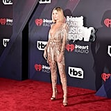 Hailey Baldwin's Sexy Jumpsuit Is More Beads and Fringe Than Fabric, of That We're Sure