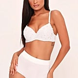 I Saw It First  White Diamante And Pearl Bra