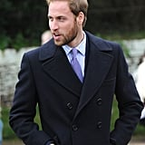 Prince William showed off sexy scruff while attending the Christmas church service with his family back in 2008.