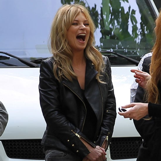 Pictures of Kate Moss Shooting Commercial