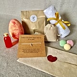 Here's what comes inside the gift set. That egg, though!