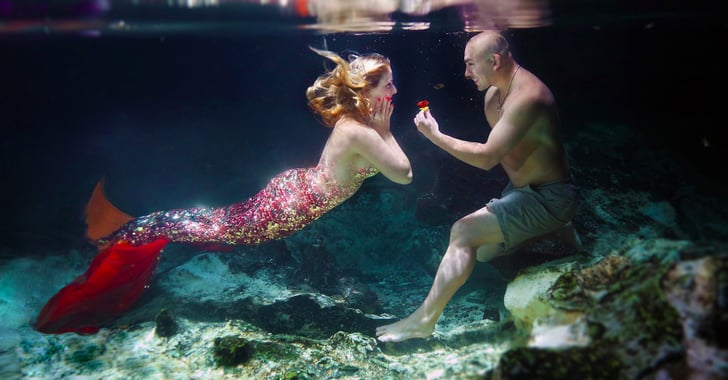 Underwater Mermaid Proposal  Popsugar Love  Sex-4617