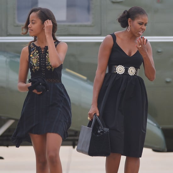 Malia and Michelle Obama Wearing Similar Outfits