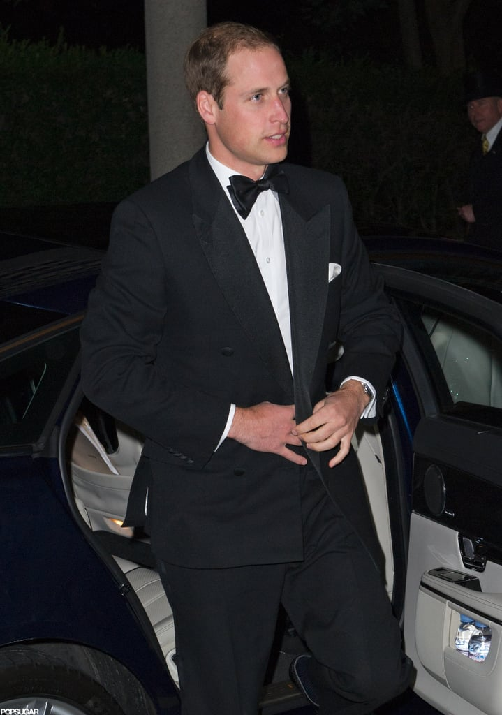 Prince William arrived at The October Club dinner in London.