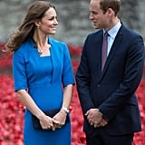The royal couple visited the Tower of London's ceramic poppy installation in August.