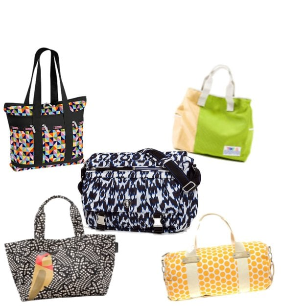 Bold Printed Gym Bags and Duffels