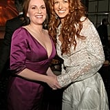 Megan Mullally and Debra Messing; 2003 SAG Awards