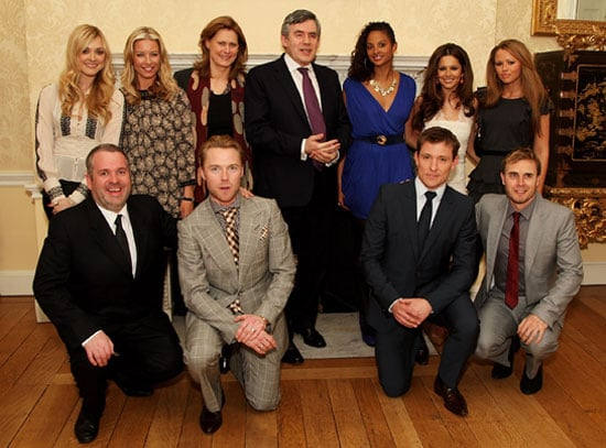 Photos of Gordon Brown With Comic Relief Kilimanjaro Climbers Including Cheryl Cole And Gary Barlow at Number 10 Downing Street